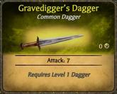 Gravedigger's Dagger Card