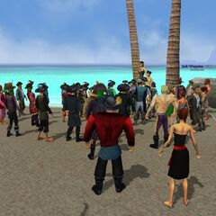 Gathering at Outcast Isle (photo by Edward Mctimbers)