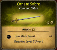 Ornate Sabre 2010-12-20