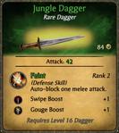 Jungle Dagger Card