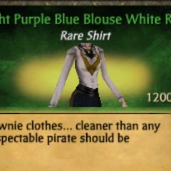Light Purple Blue Blouse White Ruff