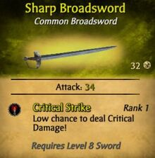 Sharp Broadsword