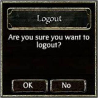 The logout verification comes up.