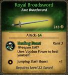 Royal Broadsword Card