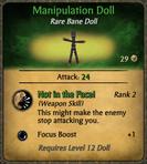Manipulation Doll Card