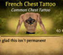 French Chest Tattoo