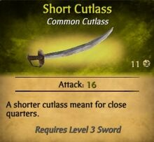 Short Cutlass
