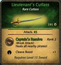 Lieutenant's Cutlass