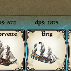 Brigantine leading a fleet