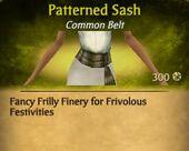 Patterened Sash