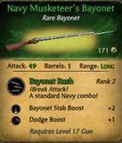 Navy Musketeer's Bayonet