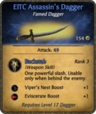 EITC Assassin's Dagger Card