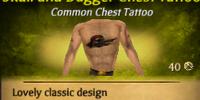 Skull and Dagger Chest Tattoo