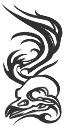 Tattoo arm mono tribal bird copy