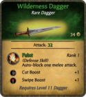 Wilderness Dagger Card