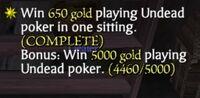 Undead Poker Bonus Item