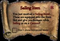 Scroll Sailing Item