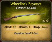 Wheellock Bayonet