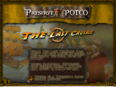800x600-Preserve POTCO The Last Crusade Event Poster