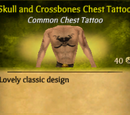 Skull and Crossbones Chest Tattoo