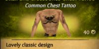 Skull and Crossbones Chest Tattoo