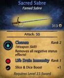 Sacred Sabre