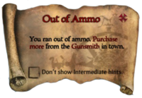 Scroll Out of Ammo