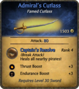 Admiral's Cutlass Card