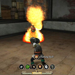 Staff flaming skull 2