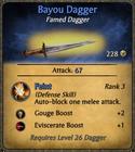 Bayou Dagger Card
