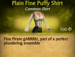 F Fine Puffy Shirt variations
