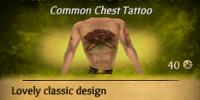 Crossed Flintlocks Chest Tattoo