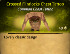 Crossed Flintlocks Chest Tattoo New