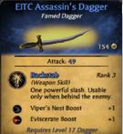Famed dagger