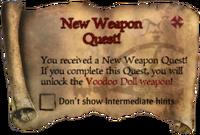Scroll NewWeaponQuest
