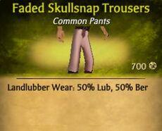 Faded Skullsnap Trousers