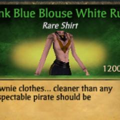 Pink Blue Blouse White Ruff