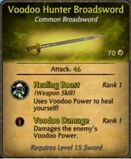Voodoo Hunter Broadsword