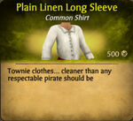 Plain Linen Long Sleeve
