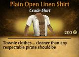 Plain Open Linen Shirt
