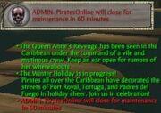 Live Server maintenance warning(true or mistake)