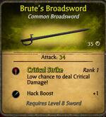 Brute's broadsword