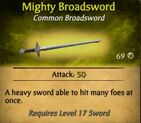 Mighty Broadsword