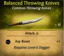 Balanced Throwing Knives