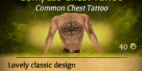 Compass Chest Tattoo