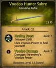 Voodoo Hunter Sabre Card