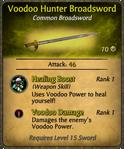 Voodoo Hunter Broadsword Card