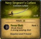 Navy-Sergeant's cutlass