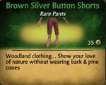 Brown Silver Button Shorts