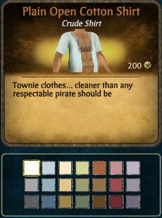 M Open Cotton Shirt